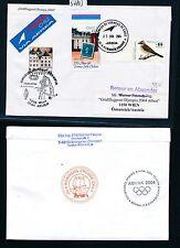 97803) AUA Olympiade So-LP Wien - Athen 13.8.2004, Brief ab Chile Isla Robinson