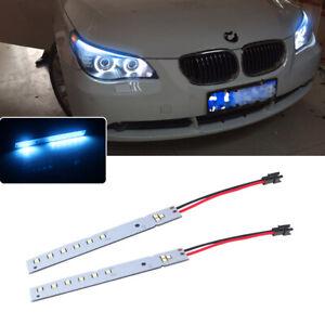 2x Ice Blue LED Strips Eyebrow Headlight Mod For 2008-10 BMW E60 LCI M5 5 Series