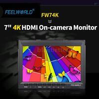 "FEELWORLD 7""inch 4K HD IPS 1280x800 Field Monitor for Canon Nikon A7 GH4 Camera"
