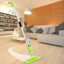 Floor Water Spray Mop Wet Hand Tiles Pad Flat Cleaning Tool w/2 Pads Wholesale