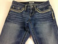 Daytrip Jeans Aquarius Straight Buckle Womens 24 Tall Long 29 x 33 Actual Stud