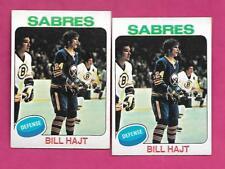 2 X 1975-76 TOPPS # 233 SABRES BILL HAJT ROOKIE EX-MT CARD (INV# C0397)