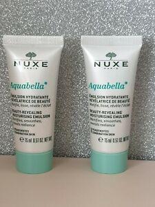 Nuxe Aquabella Beauty Revealing Moisturising Emulsion Travel Size 2x15ml new