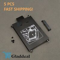 5PCS HP EliteBook 820 720 725 G1 G2 Hard Drive Caddy w/Screws+Connector NO G3 US