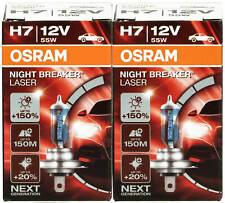 Osram Lámpara de Coche Faros H7 2 un. Interruptor noche +150% 64210NL láser de próxima generación.