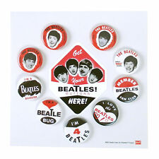 Beatles Memorabilia: 50th Anniversary Replica Collectible 1964 Seltaeb Buttons