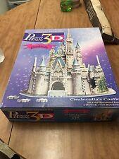 Puzz 3-D Walt Disney's Cinderella's Castle 530 Pieces Jigsaw Puzzle Wrebbit 1995