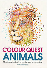 Animals Colouring Book Adult by Number Colour Quest Fun and Stress Relieving Art