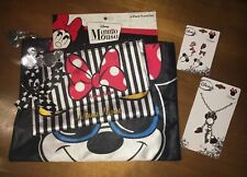 New Disney Minnie Mouse Cosmetic Bag Set Claire's Store Ears Jewelry Earring Lot