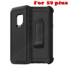 For Samsung Galaxy S9 Plus Case(Belt Clip Holster Fits Otterbox Defender) BLACK