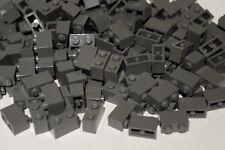LEGO 40x DARK STONE GREY BRICKS 1x2 No 3004 Star Wars,City,Movie