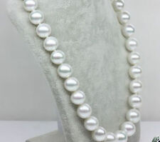 """Classic 12-13mm south sea white round pearl necklace 18"""" 14k JN1863"""