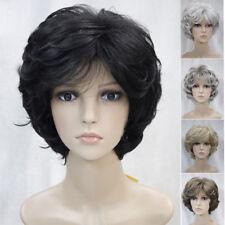 Moda Para mujeres Pelucas Completas de pelo rizado natural encanto Señoras Corto Pelucas + Peluca Cap
