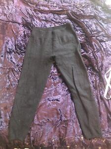 Celtic Sheepskin & Co 100% Merino Wool Navy Blue Lounge Pyjama Leggings Size M