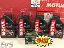 Kit 4 Litri Olio Moto Motul 7100 10W-40 4T 100% Sintetico + Filtro HIFLO