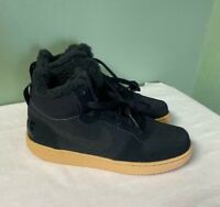 Nike Court Borough Mid WNTR GS Shoes Boots Black AA3458-002 Size 6.5Y / Womens 8