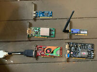 LOT OF 3 PC VIDEO CARDS Radon ATI and Quadro