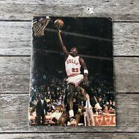 Michael Jordan NBA Chicago Bulls Folder RARE  1985-86 Schedule McDonalds SGA