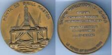 Médaille de table - LE HAVRE 27 septembre 1973 plateforme forage en mer d=59,5mm
