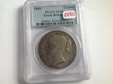 1844 Great Britain Crown in PCGS Holder