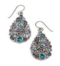 PATRICIA LOCKE Waterlily Multi Color St Petersburg Swarovski Silver Earrings