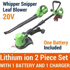 20V Lithium Cordless Leaf Blower Snipper Grass Trimmer 2PC Garden Tool Set