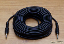 2 Stück - 10m - 3,5mm Klinke Kabel - Stereo - AUX Audio - 3 polig - 10 Meter