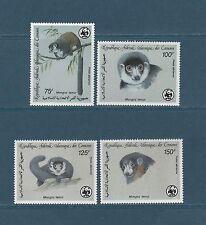 Comores république  faune menacée  lémuriens  WWF  1987  poste aérienne  **