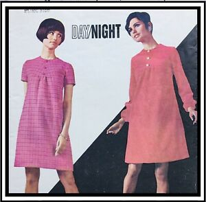 """Vintage 1960's SEMI-FITTED A-LINE DRESS Sewing Pattern BUST 36"""" (B4647)"""