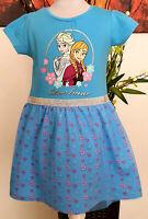 Kinder Mädchen Kleid Gr.116 128 134 Diseny Frozen Elsa Sommerkleid Kinderkleid