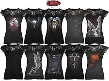 Camisetas de hombre de manga corta negro Spiral