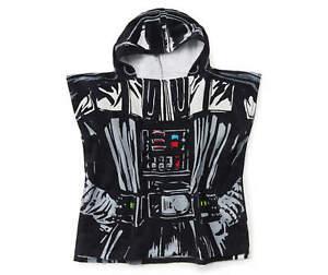 "Disney Star Wars Hooded Poncho Towel Darth Vader 22"" x 22"" Beach Pool Cotton"