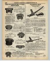 1937 PAPER AD 2 PG Walker Lift-A-Car Floor Garage Jack Hydraulic Mechanical