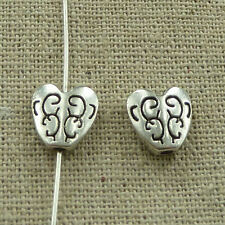 free ship 154 pieces tibetan silver heart spacer 10x10mm #3626