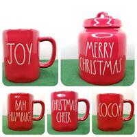 Rae Dunn Holiday Red Coffee Mug Choose Cheer Humbug Merry Christmas Jar 2020 New