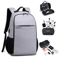 Women Men Anti-Theft Travel Backpack USB Port Bookbag Laptop Business Large Bag