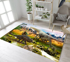 Dinosaurs in the Park by the Lake Area Rugs Bedroom Carpet Living Room Floor Mat