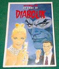 Cartolina Card per i 30 anni di DIABOLIK del 1991 illustrata da Sergio Zaniboni