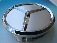SATZ 4 stuck Mercedes-Benz 75mm Silber Emblem Felgendeckel Radkappen Nabendeckel
