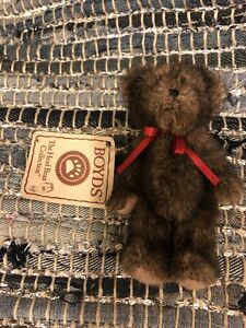 New Rare Boyds Bear Tiny Brown Plush Ornament No String