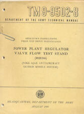 TM9-9502-8 Power Plant Regulator-Nike-Ajax Missile Book Maintenance Operators US