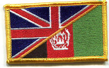 NATO ISAF ANDSF TAAC RESOLUTE SUPPORT RS hook/loop INSIGNIA: UK/AFGHANISTAN FLAG