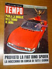 TEMPO 1967/10=FIAT DINO SPIDER COVER + PROVA=THE BEATLES=MINA=ENRICO NASSI=