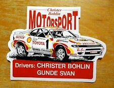 Christer Bohlin Shell Toyota Celica GT4 Rally Motorsport Sticker / Decal