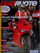 Dueruote 30 2007 Ducati Desmosedici RR in pista con Stoner e Capirex. Harley Q72