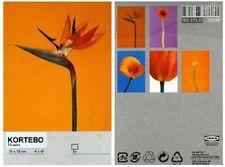 """Ikea Kortebo Art Cards x 5 - Flowers - Brand New & Sealed - 10x15CM / 4""""x6"""""""