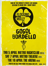 FLOGGING MOLLY & GOGOL BORDELLO 2007 AUSTRALIAN CONCERT TOUR POSTER- Celtic Punk