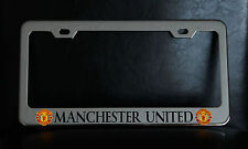 """""""MANCHESTER UNITED"""" License Plate Frame, Custom Made of Chrome Plated Metal"""