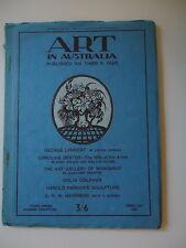 ART IN AUSTRALIAG EORGE LAMBERT MARGARET PRESTON 3RD SERIES NUMBER 36 FEB 1931