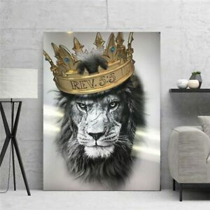 Wall Art Pictures A Lion With Dignity HD Canvas Paintings For Living Room